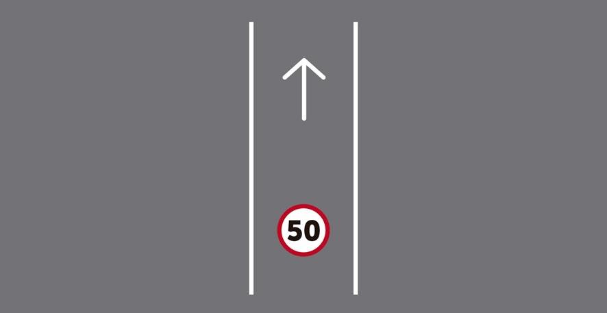 Único carril por sentido de circulación (en carretera de 1 carril). Excepciones.