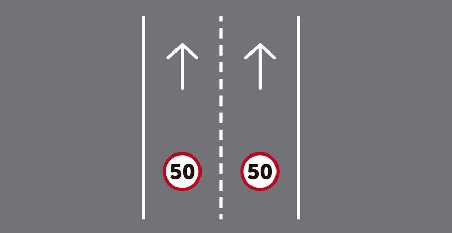 Dos carriles por sentido de circulación.